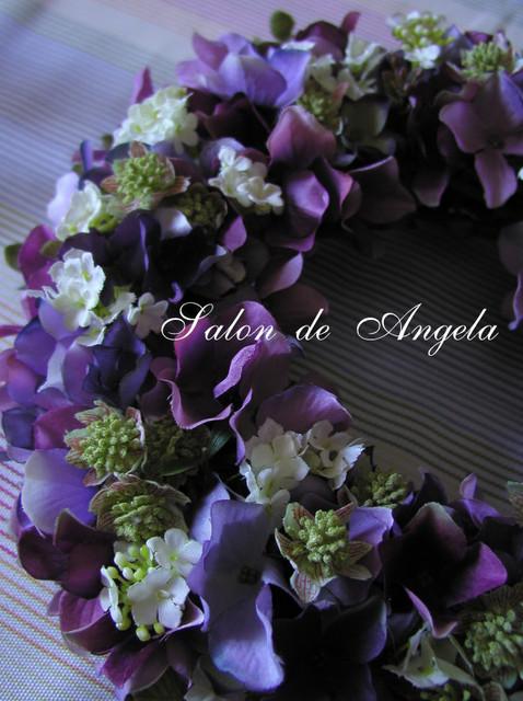 紫陽花のアーティフィシャルリース